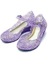 CQDY Zapatos de princesa Elsa para niña, para disfraz de princesa, para Halloween, cosplay, fiesta de cumpleaños