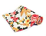 Mahima Furnishing Red Floral Ac Single Microfiber Blanket (54 X 84 Inches, Multicolor)