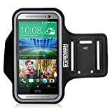 HTC U Play | A9s | Desire 650 | M9 | M8 Running Armband | SmashTerminator® Sports Gym Exercise Jogging Arm Band Case Cover Holder for HTC Smartphones. Made from Premium Neoprene & Lycra Featuring a Special Sweat-proof Layer, Reflective Strip and Key Slot (As Seen in Runners World Magazine - 5 Stars)