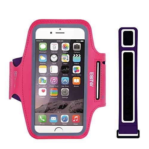 """EOTW Sportarmband Handyhülle universell Passend für Huawei P10 Lite/Honor 8, Samsung J7/Note 2, LG G4/G5 usw, Handytasche für Laufen und Joggen (5,5\"""" Pink)"""