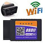 ELM327 Wifi OBDII Scanner,Gemwon OBD2 Wifi Adapter Car Diagnostic Tool Code Reader Check