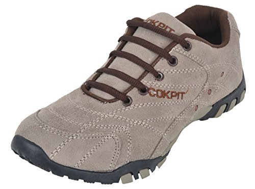 Cokpit Men's Beige Suede Running Shoes - 6 UK