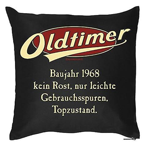 Geburtstag Deko Kissen-Bezug ::: Oldtimer - Baujahr 1968 ::: Kuscheliges zum Geburtstag