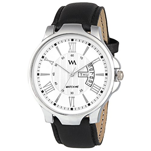 Watch Me White Leather Analog Men's Watch-DDWM-002 Watch for Mens Under 500 ; Watches for Mens Stylish ; Watch for Men Stylish Latest