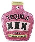 Das Kostümland Hochwertige Glitzer Handtasche - Tequila 23cm - Damen Junggesellenabschied Mexikanerin Karnevalskostüm Fasching Festival Funy Bag