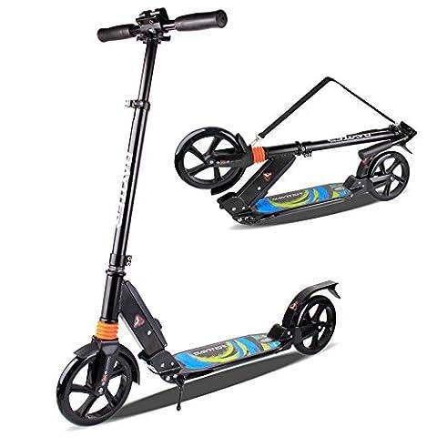 BAYTTER® Scooter Roller Kinderscooter für Kinder ab 8 Jahren und Erwachsene, aus Aluminiumlegierung und mit Dämpfungssystem ausgestattet, in 3 Höhen verstellbar