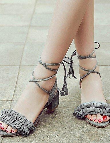 LFNLYX Scarpe Donna-Sandali-Matrimonio / Formale / Serata e festa-Tacchi / Aperta / Cinturino alla caviglia-Quadrato-Finta pelle-Nero / Rosa / Black