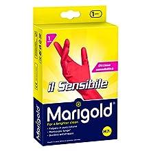 Marigold Il Sensibile 145678 Guanto, Minimo Spessore, Felpato in Puro Cotone, Manica Lunga con Bordino Frenagocce Antistrappo, M