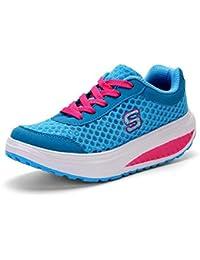 a35e4121c Zapatos atléticos Casuales para Mujeres Zapatos de Balancín Transpirables  Zapatos Deportivos de Primavera y Verano Zapatos