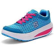 Zapatos atléticos Casuales para Mujeres Zapatos de Balancín Transpirables Zapatos Deportivos de Primavera y Verano Zapatos