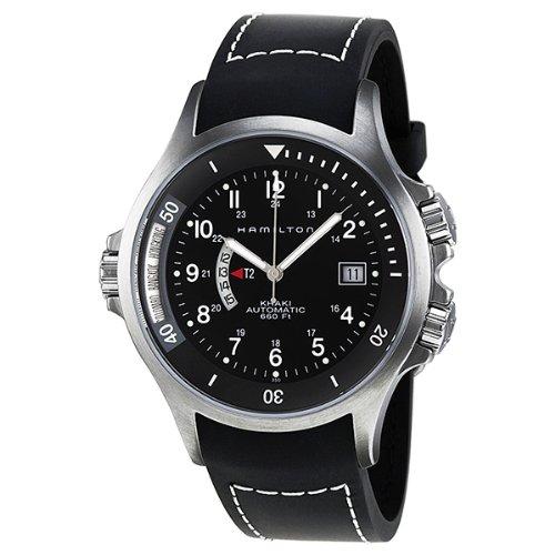 Hamilton Abdeckung (Hamilton H77615333 Herren Armbanduhr, entspricht Marine-Standards, 42-mm-Zifferblatt, schwarzes Gummiarmband, Stahlgehäuse, Abdeckung aus Saphirglas, Automatik-Uhrwerk)