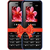 I KALL K24 Dual Sim 4.57 Cm (1.8 Inch) Mobile Phone Combo - K24 (Blue & Red)