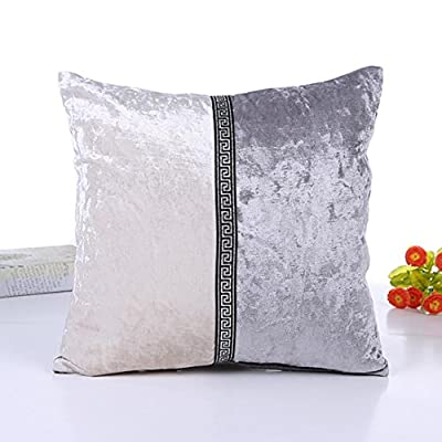 Omiky® 18 x 18Inches Square Splice Throw Pillow Cover Case,Sofa Bed Home Decor Imitation Leather Decor Cushion Sheel