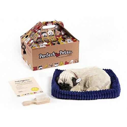 Perfect Petzzz Hundebaby Welpen Katzen Babies atmender Hund Haustier verschiedene Hunde Rassen (Mops)