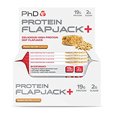PhD Nutrition Protein Flapjack+ Bars, Pack of 12 x 75g