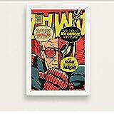 yhnjikl Superhero Comic Book Writer Stan Lee Movie Star Art Painting Silk Canvas Poster Wall Home Decor 40x60cm sans Cadre