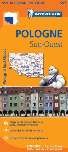 Carte Pologne Sud-Ouest Michelin par Collectif MICHELIN