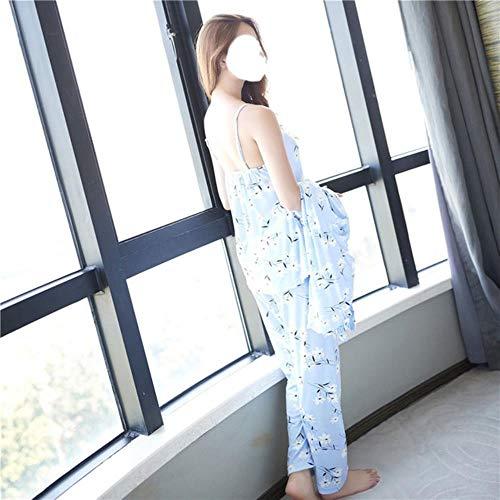 WOOAI Damen 3 Stück Pyjamas Sets 2018 Frühling und Sommer Einrichtung Verschleiß Sexy Frauen Pyjama Sets Nachthemd + Robe + Pant Female Pyjamas, 3jiantao sanzihua, XXL