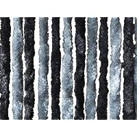 Hekers Chenille Flauschvorhang Fliegenschutz 56 x 185 cm dunkelgrau