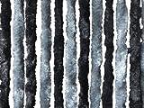 Chenille Flauschvorhang Fliegenschutz 56 x 185 cm dunkelgrau NEU