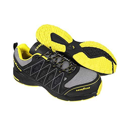 Goodyear GYSHU1502, Zapatillas de Seguridad para Hombre, Negro (Black/Yellow), 43 EU