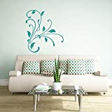 malango® Wandtattoo Blumenornament Wanddekoration Blume Pflanze Dekoration Flower Pflanzenwelt Tattoo ca. 71 x 80 cm dunkelrot