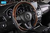 #2: Nikavi Car Steering Wheel Cover - Microfiber Leather, Breathable, Anti Slip Universal Steering Wheel Productor (Brown)