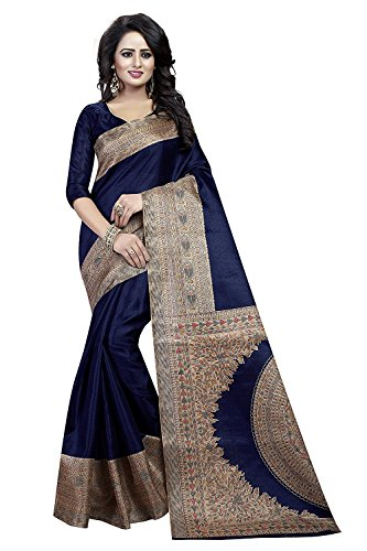 AMAZON Navy Cotton Silk Jacquard Party & Festival Wear Saree - (Women's Clothing Saree For Women Latest Design Sarees New Collection Navy Blue Saree With Blouse Free Size Beautiful Saree For Women Party Wear Festival wear Casual wear Designer Sarees With Blouse Piece Perfect Ethnic wear best offer on sarees 100% Genuine Product)