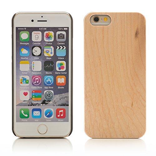 iProtect TPU Schutzhülle Apple iPhone 6, 6s (4,7 Zoll) Soft Case - flexible Hülle in Holz-Design hölzern braun Ahornholz+PC Hardcase