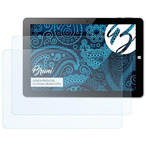 Bruni Schutzfolie für Ninetec Ultratab 10 Pro Folie, glasklare Displayschutzfolie (2X)