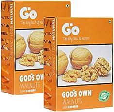 Go Organic Light Broken Walnut Kernels Pack of 2 Each 250gm