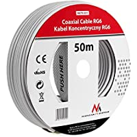 Maclean MCTV-571 SAT-Antennenkabel 50m de los cables coaxiales RG6 1.0CSS TV por cable