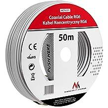 Maclean MCTV-571 SAT-Antennenkabel 50m de los cables coaxiales RG6 1.0CSS TV