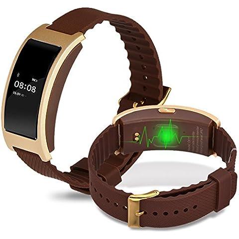 Pressione sanguigna frequenza cardiaca Monitor Smart bracciale CK11Sport pedometro Activity