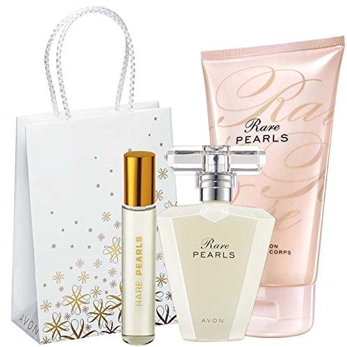Avon Rare Pearls Set Eau de Parfum + Körperlotion + Taschenspray
