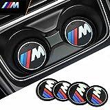 NOBRAND Untersetzer für Getränkehalterung, Motiv: M, M-Sport, M-Performance, für X3 X4 X5 X6, 5er-Reihe, 7er-Reihe, Durchmesser 7,3 cm (ein Blatt)
