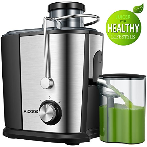 Juicer Centrifugal Juicer, Aicook Wide Mouth Juice Extractor Juicers for Whole Fruit and Vegetable,