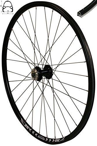 Redondo 26 Zoll Vorderrad Laufrad Fahrrad V-Profil Felge Schwarz 6 Loch Disc -