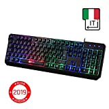 ⭐️KLIM Chroma Tastiera ITALIANA per Gaming USB - Alte Performance - Colori da...