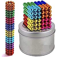 HEYOL magnatic Multi-Colored Balls for Children , Degree Round Magnetic Stainless Steel Solid Balls for Kids Toy , 216…
