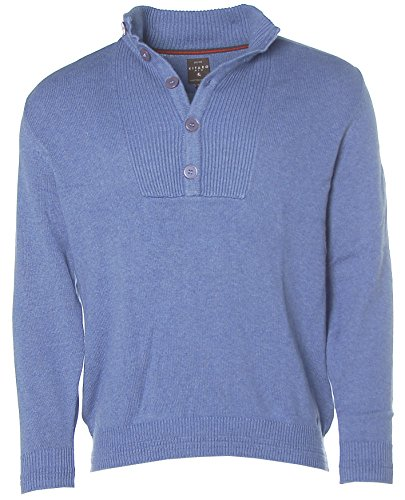 Kitaro Herren Troyer Strick Pullover Yacht Race North Atlantic Dutch Blue melange