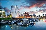 Alu Dibond 120 x 80 cm: Düsseldorf Medienhafen von euregiophoto