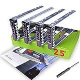 WORKDONE 4 Pezzi - Vassoio Caddy da 2,5 Pollici per Disco Rigido, per Server PowerEdge dell T440 T640 R330 R430 T430 R630 T630 R730 R830 R930 R320 R420 R310 R410 R415 G176J - Vassoio Hot-Swap
