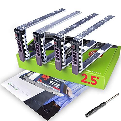 WorkDone 4er Pack - 2,5-Zoll Hard Drive Caddy Tray G176J Festplattenrahmen für Dell PowerEdge Server - T440 T640 R330 R430 T430 R630 T630 R730 R830 R930 R320 R420 und mehr - HDD Träger Rahmen