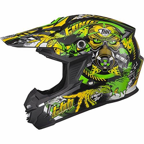 THH TX-15#2Motocross-Helm, Größe L, Farbe: Schwarz/Gelb/Grün