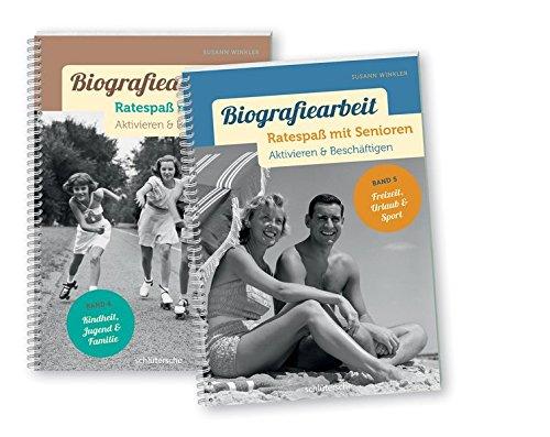 Biografiearbeit - Ratespaß mit Senioren, 2 Bde. im Set: Band 4: Kindheit, Jugend & Familie, Bd 5: Freizeit, Urlaub & Sport