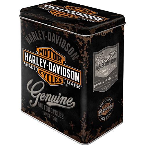 HARLEY-DAVIDSON Genuine Logo - Caja de Almacenamiento 10x14x20 cm