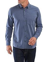 MAERZ Herren Freizeithemd gestreift blau 712701-353, Konfektionsgröße:L