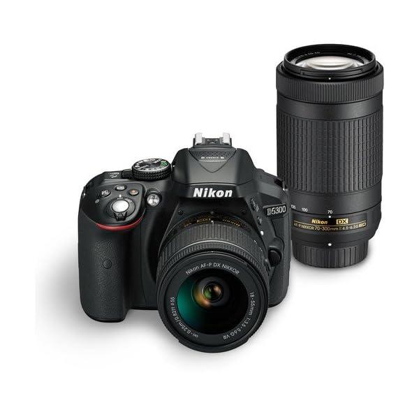 Nikon D5300 24 2MP Digital SLR Camera(Black) with AF-P 18-55 and AF-P DX  NIKKOR 70-300mm f/4 5-6 3G VR Kit, Free Camera Bag and 16GB Memory Card