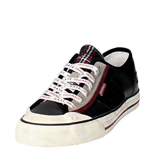 D.a.t.e. TENDER2 Sneakers Homme Cuir Vert Foncé Noir